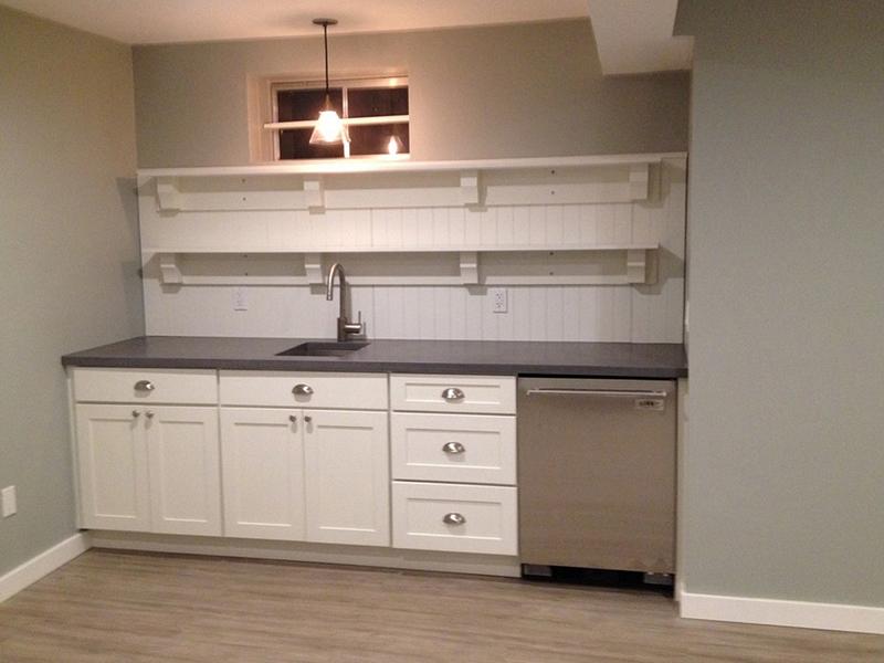 Basement Renovation: Kitchen, Gym, Wine Cellar and a Barn Door