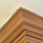 crack caulking on crown molding